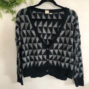 Roxy   Boyfriend Checkered Cardigan Sweater